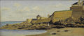 Fine Art - Painting, European:Antique  (Pre 1900), After CHARLES FRANÇOIS DAUBIGNY (French, 1817-1878). View of St.Malo. Oil on panel. 6-1/2 x 14 inches (16.5 x 35.6 ...