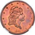 Patterns, 1861 $5 Five Dollar, Judd-283, Pollock-336, Low R.7, PR65 Red and Brown NGC....