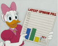 Animation Art:Production Drawing, Daisy Duck Animation Production Cel Original Art (Disney,undated)....