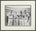 Autographs:Others, Mantle, DiMaggio, Mays, And Snider Multi Signed Framed Photograph....