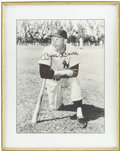Autographs:Photos, Mickey Mantle Signed Framed Photograph....