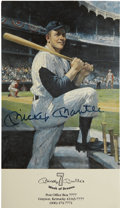 Autographs:Post Cards, Mickey Mantle Signed Index Card. ...