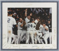 Autographs:Others, 1996 Yankees Team Signed Framed Photograph. ...