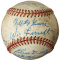 Autographs:Baseballs, Baseball Hall Of Famer Multi Signed Ball. ...