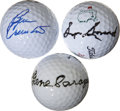 Golf Collectibles:Autographs, Golf Legends Signed Golf Balls Lot Of 3....