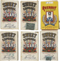 Baseball Cards:Other, 1910 Era Sweet Caporal and Recruit Tobacco Slide Tray Packs Groupof (16). ...