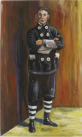 Baseball Collectibles:Others, Napoleon Lajoie Oil Painting....