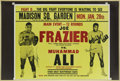 Boxing Collectibles:Autographs, Muhammad Ali - Joe Frazier Dual Signed Fight Poster....