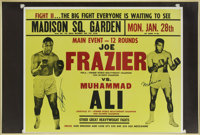 Muhammad Ali - Joe Frazier Dual Signed Fight Poster
