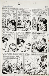 Jack Kirby and George Roussos Sgt. Fury #7, page 18 Original Art (Marvel, 1964)