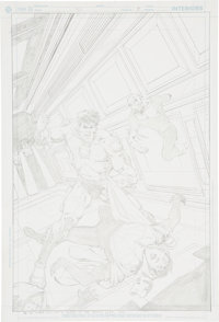 Jim Starlin Mystery In Space #5 Captain Comet and the Weird Cover Pencils Original Art (DC, 2007)