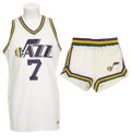 Basketball Collectibles:Uniforms, 1978-79 Pete Maravich Game Worn Uniform....