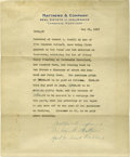 Western Expansion:Cowboy, Annie Oakley's House Sells for $8000: a 1917-Dated Cambridge,Maryland Document....