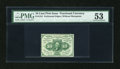 Fractional Currency:First Issue, Fr. 1241 10c First Issue PMG About Uncirculated 53....
