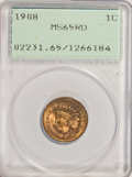 1908 1C MS65 Red PCGS. PCGS Population (229/40). NGC Census: (139/34). Mintage: 32,327,988. Numismedia Wsl. Price for NG...