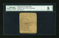Colonial Notes:Delaware, Delaware May 1, 1758 20s PMG Net Very Good 8....