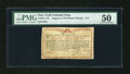 Colonial Notes:New York, New York August 2, 1775 (Water Works) 8s PMG About Uncirculated50....