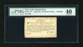Colonial Notes:New York, New York August 25, 1774 (Water Works) 8s PMG Extremely Fine 40....
