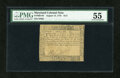 Colonial Notes:Maryland, Maryland August 14, 1776 $1/2 PMG About Uncirculated 55....