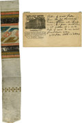 Political:Presidential Relics, Abraham Lincoln: Peterson House Wallpaper. ... (Total: 2 Items)