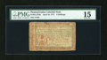 Colonial Notes:Pennsylvania, Pennsylvania April 10, 1777 6s Red and Black PMG Choice Fine 15....