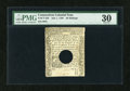 Colonial Notes:Connecticut, Connecticut July 1, 1780 20s Hole Cancel PMG Very Fine 30....