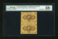 Fractional Currency:First Issue, Fr. 1230 5c First Issue Vertical Pair PMG Choice About Unc 58 EPQ....