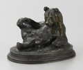 Fine Art - Sculpture, European:Antique (Pre 1900), ANTOINE-LOUIS BARYE (French, 1796-1875). Ours Assis (SeatedBear). Bronze. 5-1/2 x 8 x 5-3/4 inches (14.0 x 20.3 x 14.6 ...