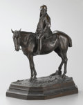 Fine Art - Sculpture, European:Antique (Pre 1900), JOSEPH CUVELIER (French, d. 1878). Jockey, 1869. Bronze. 19x 15 x 11 inches (48.3 x 38.1 x 27.9 cm). Signed and dated o...