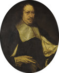 Paintings, Circle of JUSTUS SUSTERMANS (Flemish, 1597-1681) . Portrait of a Man. Oil on canvas. 32-3/4 x 26-1/8 inches (83.2 x ...