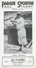 Baseball Collectibles:Others, Jackie Robinson French Advertisement....