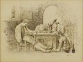 Fine Art - Painting, European:Antique  (Pre 1900), GROUP OF FOUR 19TH CENTURY CONTINENTAL DRAWINGS. ... (Total: 4Items)