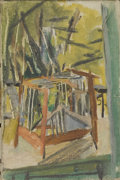 Fine Art - Painting, European:Modern  (1900 1949)  , Attributed to ROGER CHASTEL (French, 1897-1981). Small Cage.Oil on canvas. 9-1/2 x 6-1/4 inches (24.1 x 15.9 cm). Label...