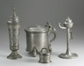 Silver Holloware, Continental:Holloware, A GROUP OF FOUR GERMAN PEWTER ITEMS . 19th-Early 20th Century. 14inches (35.6 cm) high, largest. ... (Total: 4 Coins Items)
