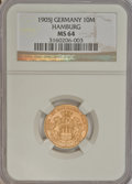 German States:Hamburg, German States: Hamburg. Free City gold 10 Mark 1905J,...