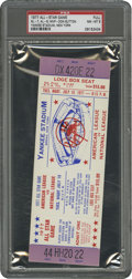 Baseball Collectibles:Tickets, 1977 All-Star Game Full Ticket PSA NM-MT 8....