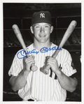 Autographs:Photos, Mickey Mantle Signed Photo....