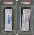 Baseball Collectibles:Tickets, 1998 David Wells Perfect Game Full Tickets PSA.... (Total: 2 items)