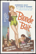"Movie Posters:Bad Girl, Blonde Bait (Associated Film, 1956). One Sheet (27"" X 41""). BadGirl.. ..."