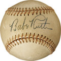 Autographs:Baseballs, Circa 1935 Babe Ruth Single Signed Baseball, PSA NM 7....