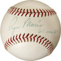 "Autographs:Baseballs, 1960's Roger Maris ""61 in 61"" Single Signed Baseball, PSA Mint9...."