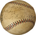 Autographs:Baseballs, 1927 Babe Ruth Single Signed Baseball. ...