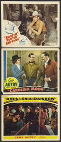 """Movie Posters:Western, Gene Autry Lot (Republic, 1940-1941). Lobby Cards (3) (11"""" X 14""""). Western.. ... (Total: 3 Items)"""