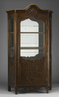 Furniture : Continental, A CONTINENTAL MAHOGANY DISPLAY CASE. 18th Century. 85 x 44 x 16inches (215.9 x 111.8 x 40.6 cm). ...