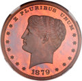 Patterns, 1879 $1 Goloid Metric Dollar, Judd-1632, Pollock-1829, R.7, PR64Red and Brown NGC....