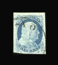 Stamps, #9, 1852, 1c Blue, XF 90 PSE. (Used)....