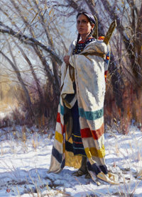 MARTIN GRELLE (American, b. 1954) Winter's Blanket, 2002 Oil on canvas 16 x 12 inches (40.6 x 30