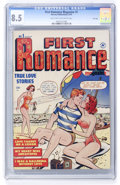 Golden Age (1938-1955):Romance, First Romance #1 File Copy (Harvey, 1949) CGC VF+ 8.5 Light tan tooff-white pages....