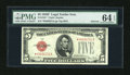 Small Size:Legal Tender Notes, Fr. 1531* $5 1928F Narrow Legal Tender Note. PMG Choice Uncirculated 64 EPQ.. ...