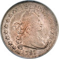 Early Half Dollars, 1797 50C --Obverse Graffiti--NCS. XF Details....